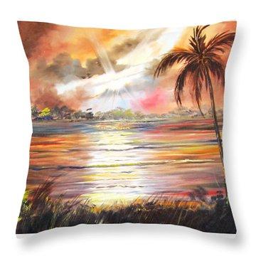 Keys Sunrise, Sunset Throw Pillow