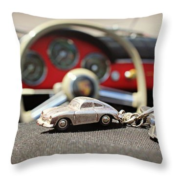 Keys To The Porsche Throw Pillow