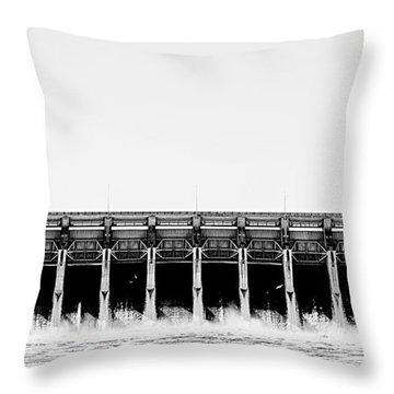 Keystone Dam Panoramic Throw Pillow