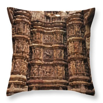 Khajuraho Temples 2 Throw Pillow