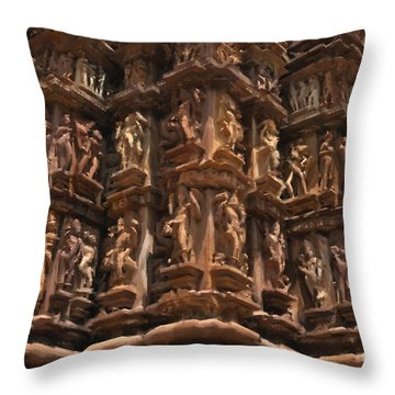 Khajuraho Temples 3 Throw Pillow