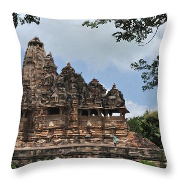 Khajuraho Temples 4 Throw Pillow