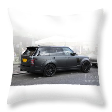 Khan Range Rover Throw Pillow