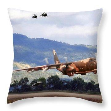 Khe Sanh Lapes C-130a Throw Pillow