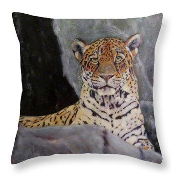 Khensu,  Jaguar Throw Pillow