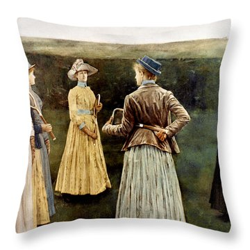 Khnopff: Memoires, 1889 Throw Pillow by Granger