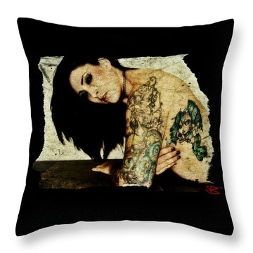 Throw Pillow featuring the digital art Khrist 2 by Mark Baranowski