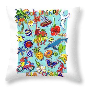 Kia Orana Cook Islands Throw Pillow