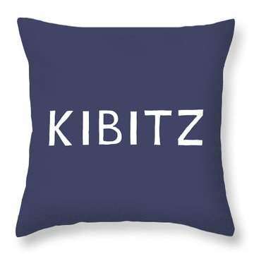 Kibitz In Navy And White- Art By Linda Woods Throw Pillow