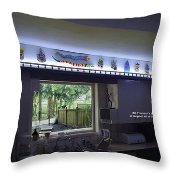 Kichen Frieze With Bill's Recyling Art Throw Pillow