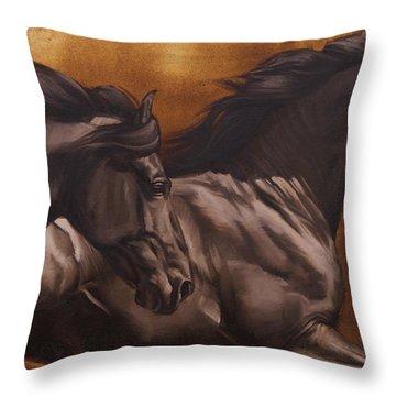 Kick Throw Pillow by JQ Licensing