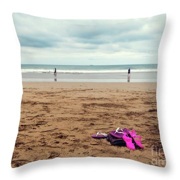 Throw Pillow featuring the photograph Kick Off Your Shoes by Linda Lees
