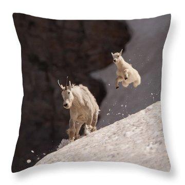 Kid In Flight Throw Pillow