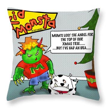 Kid Monsta Xmas 1 Throw Pillow