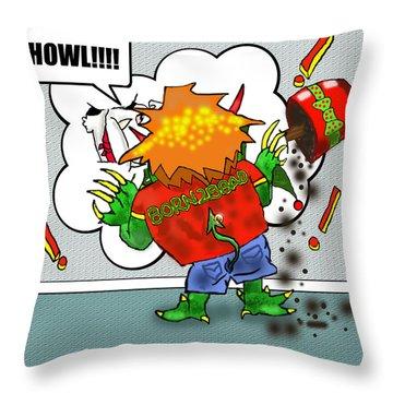 Kid Monsta Xmas 2 Throw Pillow