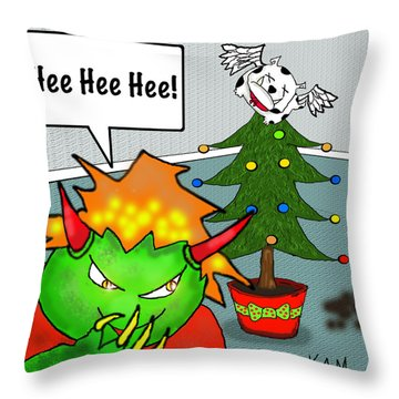 Kid Monsta Xmas 3 Throw Pillow