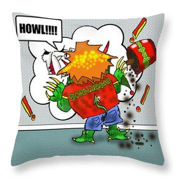 Kid Monsta Xmas Triptych Throw Pillow