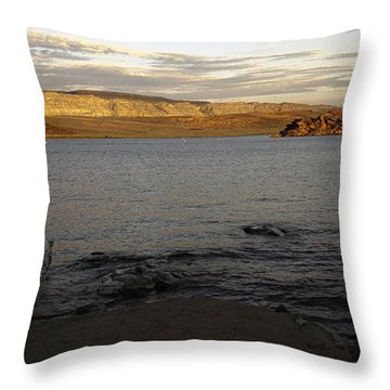 Sand Hollow At Sunset  Throw Pillow by Gilbert Artiaga