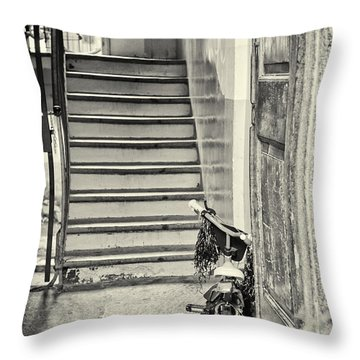 Kid's Bike Throw Pillow by Silvia Ganora