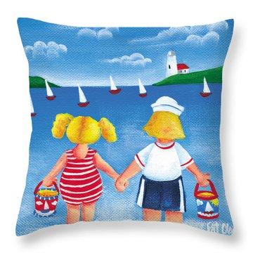 Kids In Door County Throw Pillow