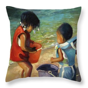 Kids Play Throw Pillow