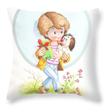 My Love As A Present Throw Pillow