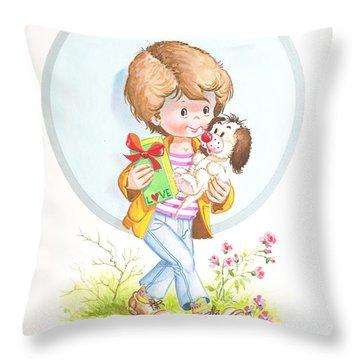 My Love As A Present Throw Pillow