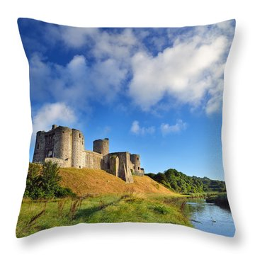 Kidwelly Castle 1 Throw Pillow