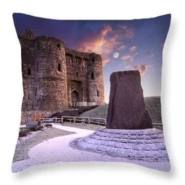Kidwelly Castle 2 Throw Pillow