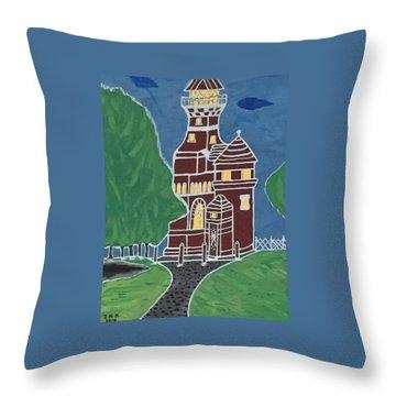 Kiel Germany Lighthouse. Throw Pillow