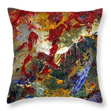 Throw Pillow featuring the painting Kierlin Gorge by Charlie Spear