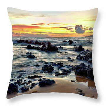 Kihei Sunset 2 Throw Pillow