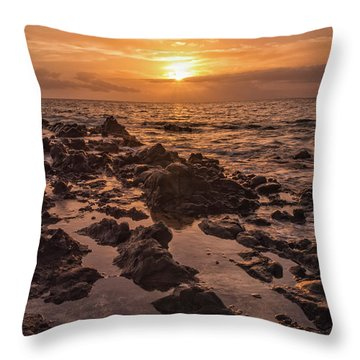 Kihei Sunset 2 - Maui Hawaii Throw Pillow by Brian Harig
