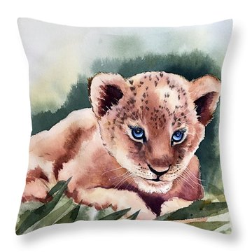 Kijani The Lion Cub Throw Pillow