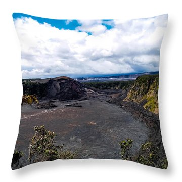 Kilauea Caldera Throw Pillow