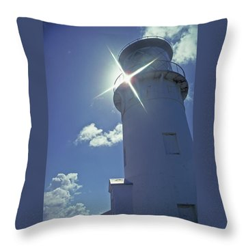 Throw Pillow featuring the photograph Kilauea Lighthouse by Marie Hicks