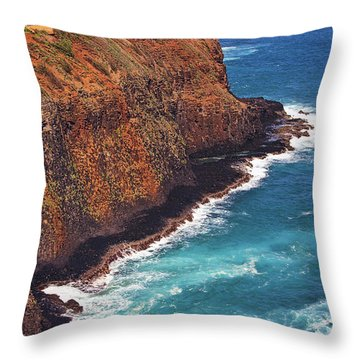 Throw Pillow featuring the photograph Kilauea Lighthouse On The Island Of Kauai, Hawaii, United States Of America          by Sam Antonio Photography