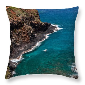 Kilauea Lighthouse Throw Pillow by Roger Mullenhour