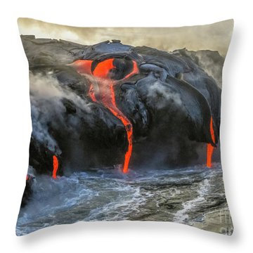 Kilauea Volcano Hawaii Throw Pillow