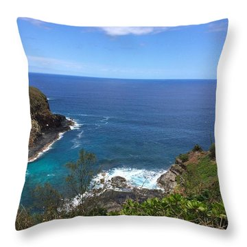 Throw Pillow featuring the photograph Kilauea Wildlife Refuge by Brenda Pressnall