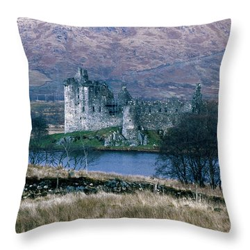 Kilchurn Castle, Scotland Throw Pillow