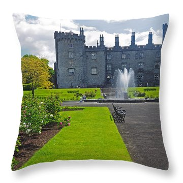 Kilkenny Castle From Rose Garden Throw Pillow