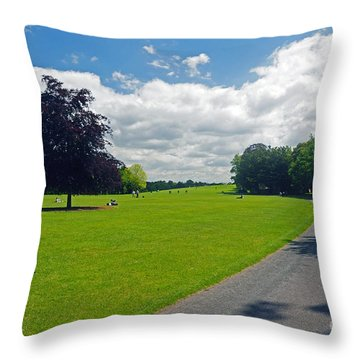 Kilkenny Castle Grounds Throw Pillow by Cindy Murphy - NightVisions