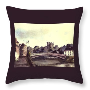 Kilkenny Castle On The Nore River. Throw Pillow