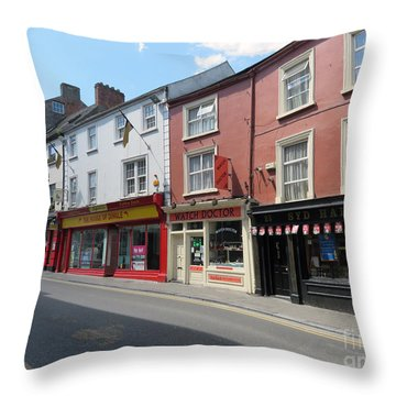 Kilkenny Ireland Throw Pillow by Cindy Murphy - NightVisions
