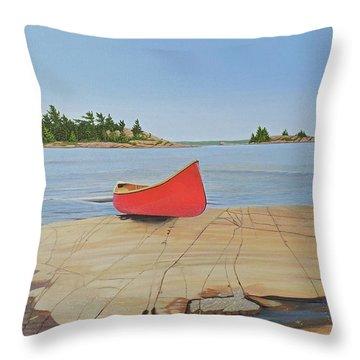 Killarney Canoe Throw Pillow