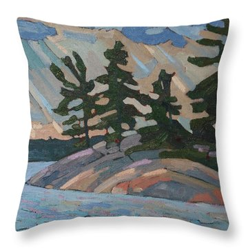 Killbear Pines And Morning Crepuscular Rays Throw Pillow