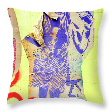 Throw Pillow featuring the photograph Killed by Art Block Collections