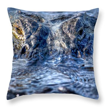 Throw Pillow featuring the photograph Killer Instinct by Mark Andrew Thomas