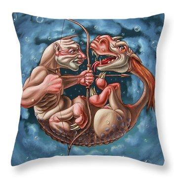 Killing The Dragon In Itself Throw Pillow